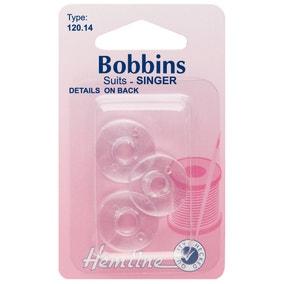 Hemline Singer Plastic Bobbins 3 Pack