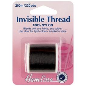 Hemline Invisible Thread Smoke 200m