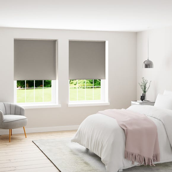 Silver Blackout Roller Blind  undefined