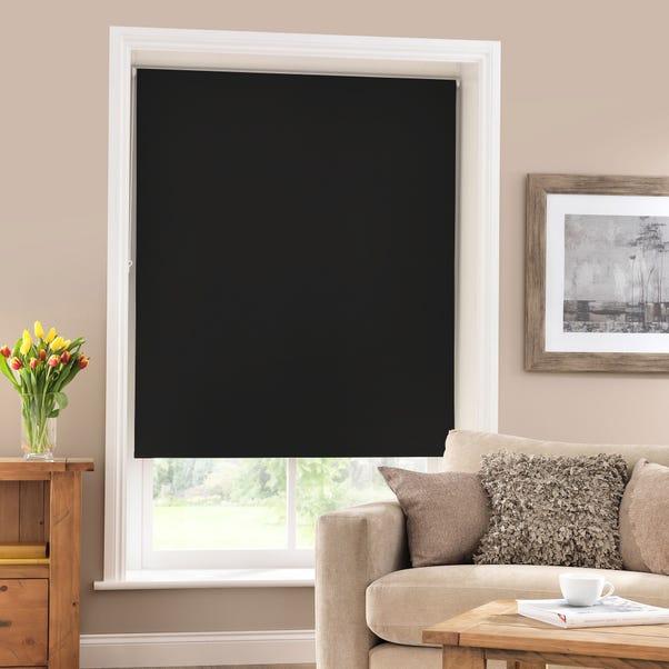 Black Blackout Roller Blind  undefined