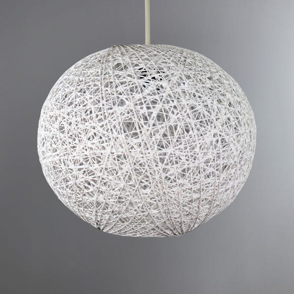Abaca Ball 20cm White Easy Fit Pendant White
