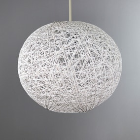Abaca Ball 20cm White Easy Fit Pendant