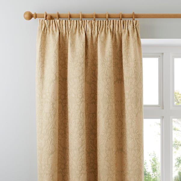 Kensington Gold Pencil Pleat Curtains  undefined