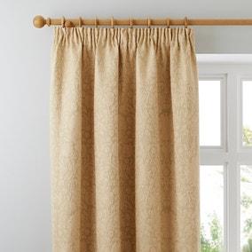 Kensington Gold Pencil Pleat Curtains