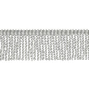 Metallic Bullion Fringe Silver Trim