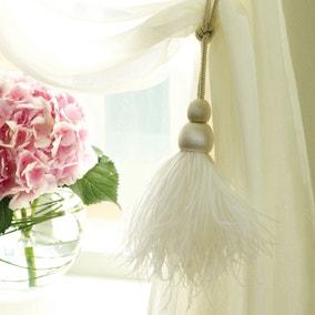 Feather Curtain Tieback