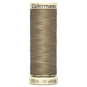 Gutermann 100m Sew All Cotton Thread Ash Brown (208)
