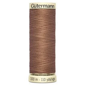 Gutermann Sew All Thread 100m Light Brown (444)