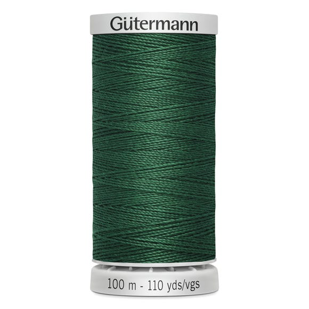 Gutermann 100m Extra Strong Green Upholstery Thread