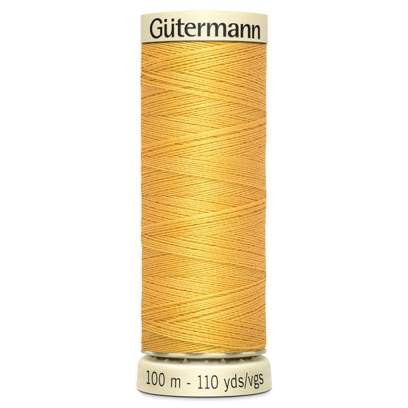 Gutermann Sew All Thread 100m Yellow (416) Yellow undefined