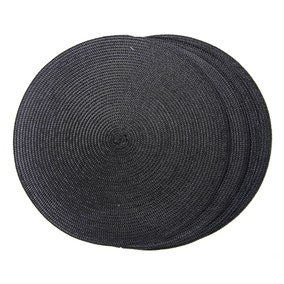 Set of 4 Round Woven Placemats