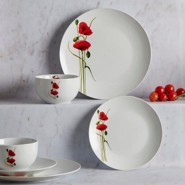 Poppy 12 Piece Dinner Set White