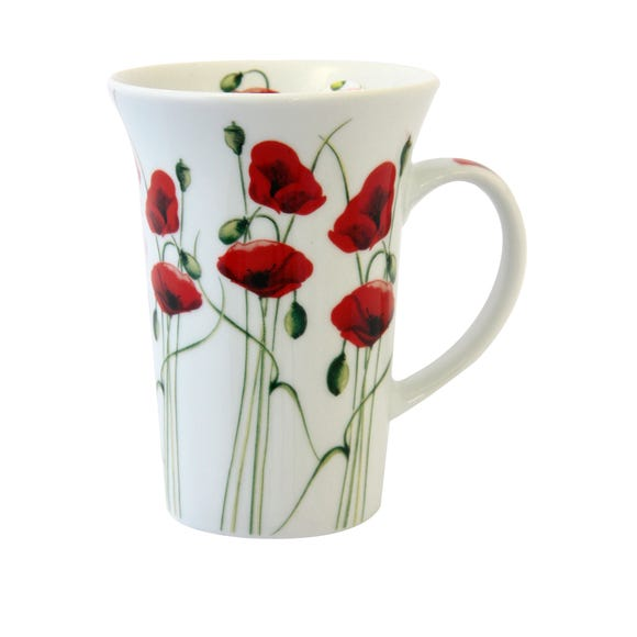 Poppy Flared Mug White