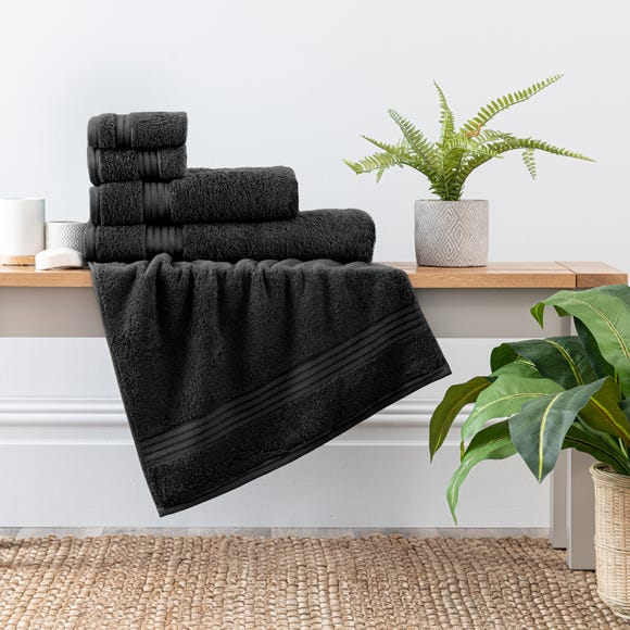 Black Egyptian Cotton Towel  undefined