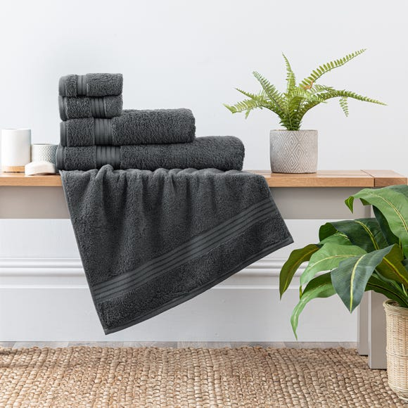 Charcoal Egyptian Cotton Towel Charcoal (Grey) undefined