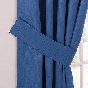 Solar Blue Curtain Tiebacks