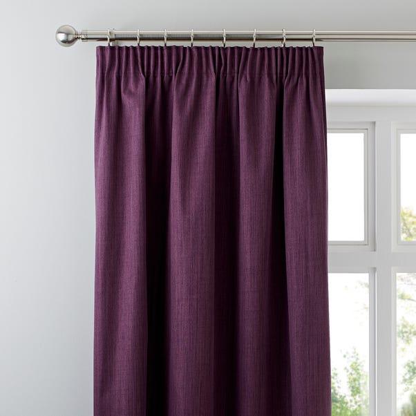 Solar Aubergine Blackout Pencil Pleat Curtains  undefined