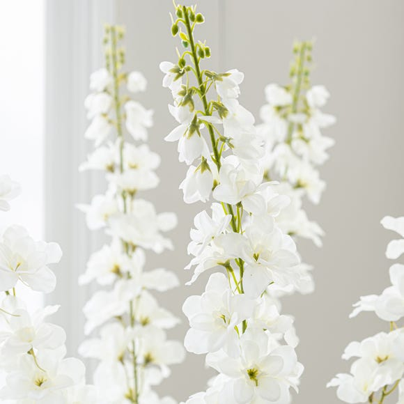 Artificial Delphinium Cream Single Spray 92cm Cream