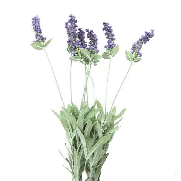Artificial Lavender Bush Purple 50cm Purple