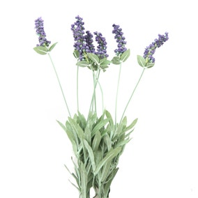 Artificial Lavender Bush Purple 50cm