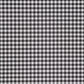 Black and White Gingham PVC