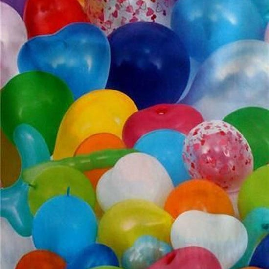 Lambroflex Balloons Table Cover MultiColoured