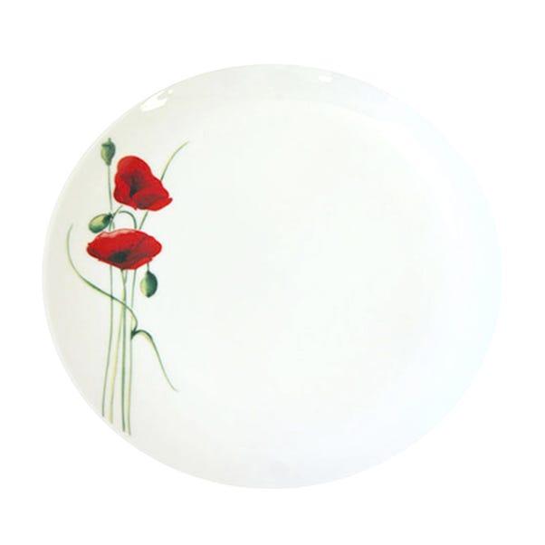 Poppy Dinner Plate White