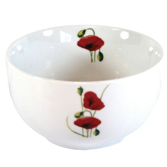 Poppy Rice Bowl White