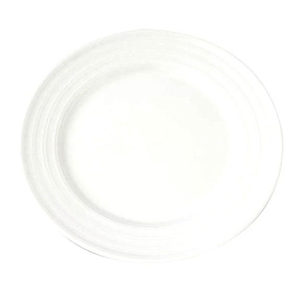 Pausa Ripple Dinner Plate White