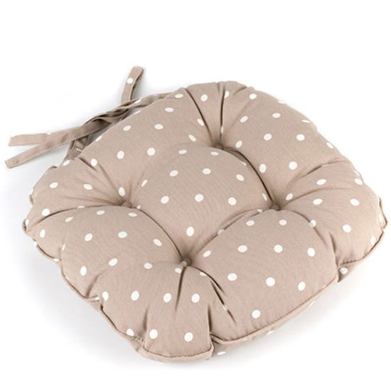 Dotty Seat Pad Taupe (Brown)