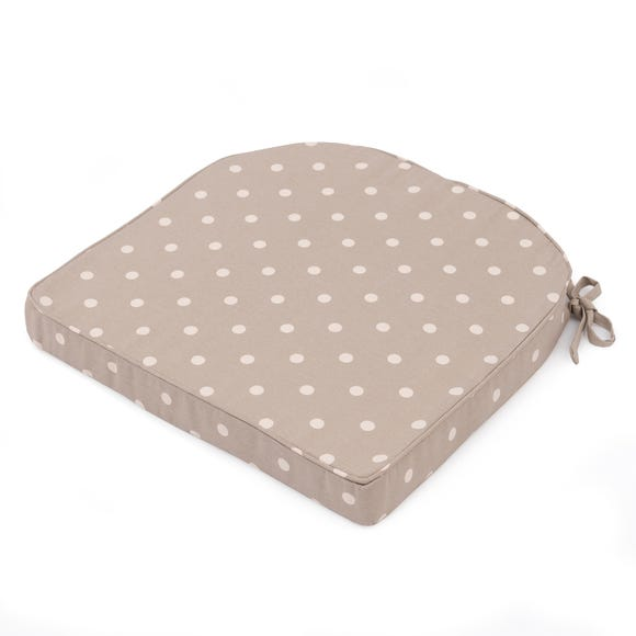 Taupe Dotty Seat Pad Taupe (Brown)