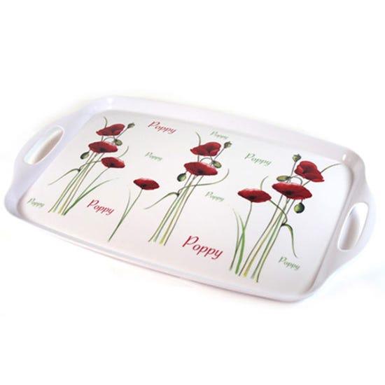 Poppy Handled Tray White