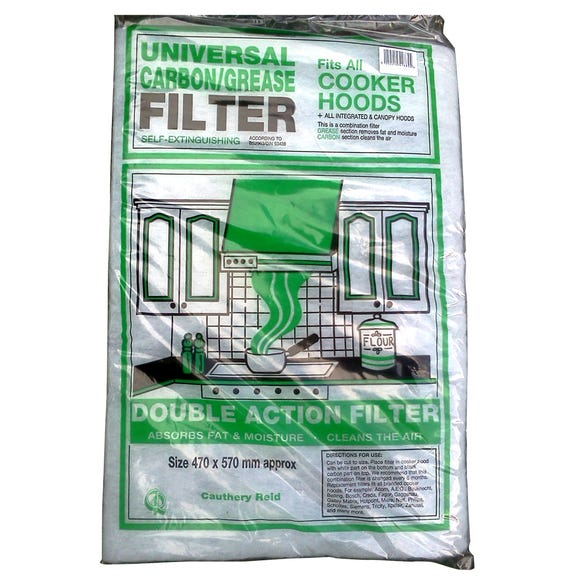 Universal Carbon Grease Filter Black