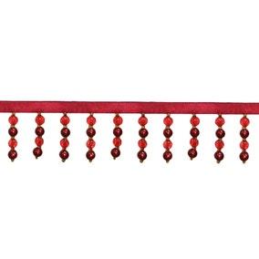 Pearl Bead Red Trim