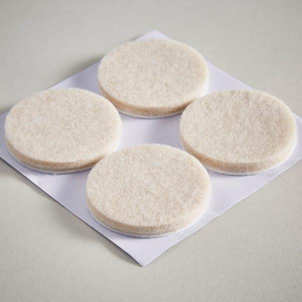 Pack of 4 38mm Round Felt Pads Cream