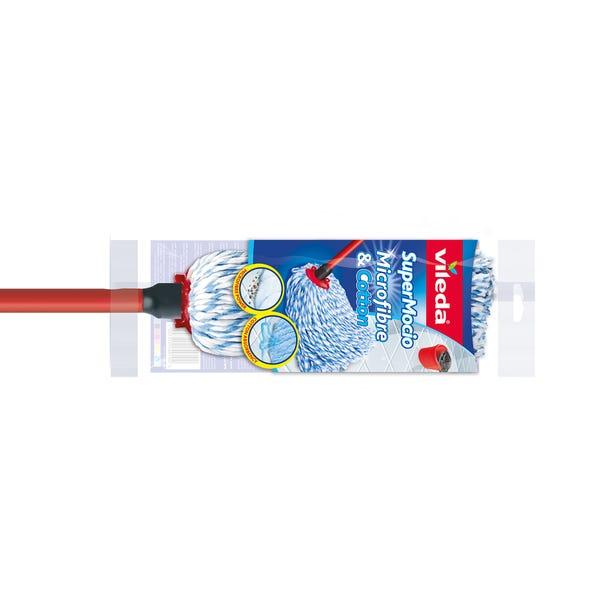 Vileda SuperMocio Microfibre & Cotton Mop Red