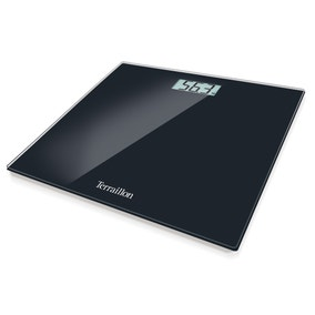 Terraillon TP1000 Black Slim Glass Electronic Scales