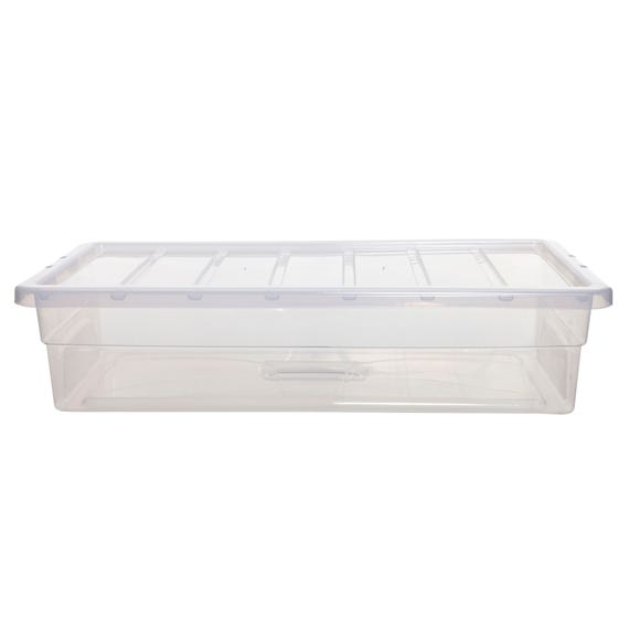 42L Spacemaster Plastic Storage Box Clear