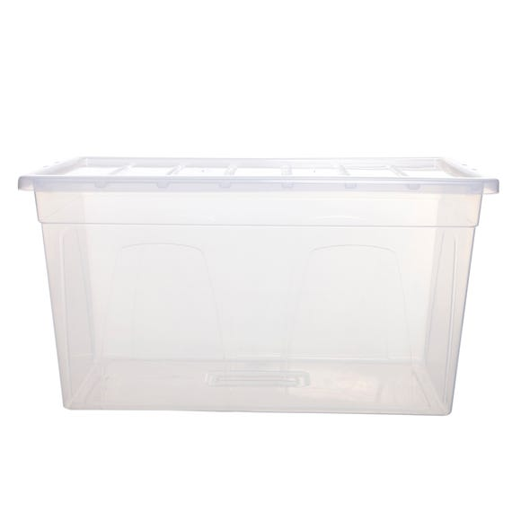 100L Spacemaster Plastic Storage Box Clear
