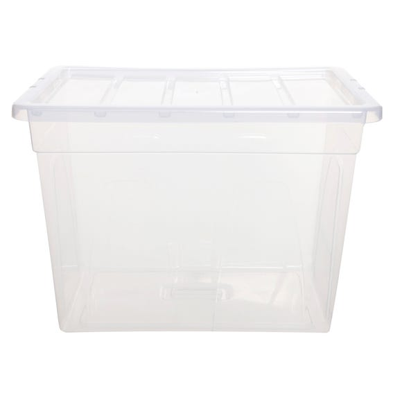 66L Spacemaster Plastic Storage Box Clear undefined