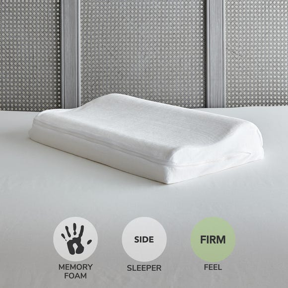 Value Memory Foam Contour Firm-Support Pillow White