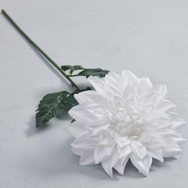Artificial Dahlia White Single Stem 90cm Cream