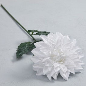 Artificial Dahlia White Single Stem 90cm