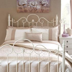 Circles Latte Bedspread
