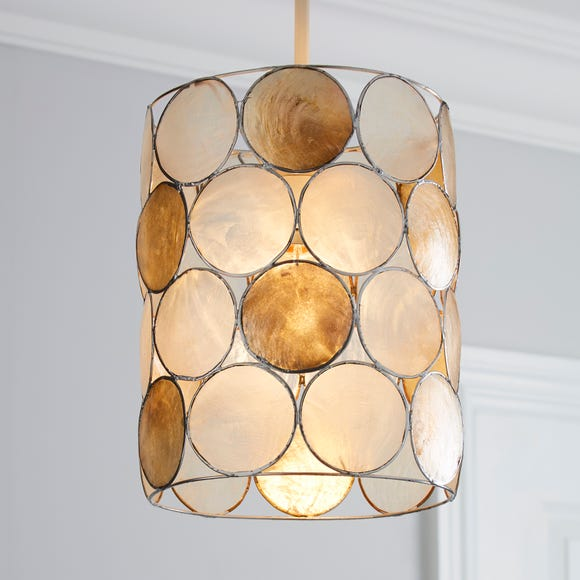 Capiz Champagne Easy Fit Pendant Cream