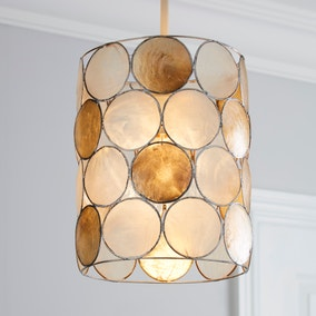 Capiz Champagne Easy Fit Pendant