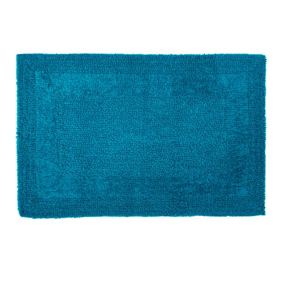 Super Soft Reversible Teal Bath Mat
