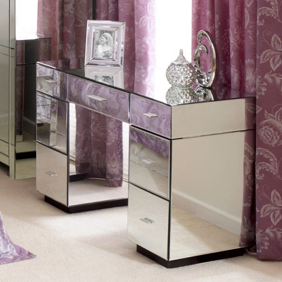 Venetian Mirrored Dressing Table Clear