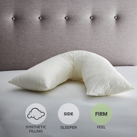 Fogarty V-Shaped Orthopaedic Firm-Support Pillow White
