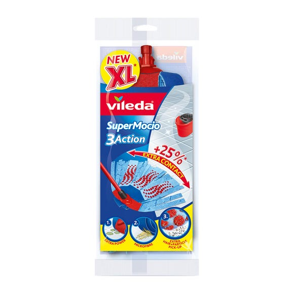 Vileda SuperMocio 3 Action XL Mop Refill Blue